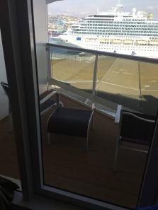 Voici notre cabine avec balcon